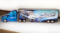 Truck Jada Toys Fast and Furious 1:32 Blue Peterbilt 387 Long Hauler Vehicle