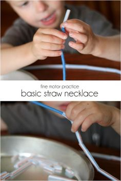 Motor Skills / Basic straw necklace