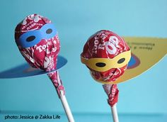 turn your lollipops into superheros! :P