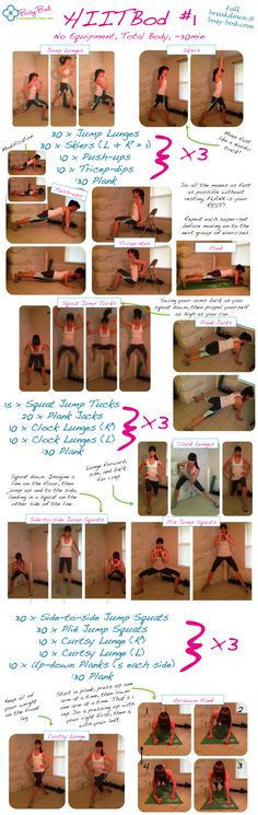 ~30min, total body, NO EQUIPMENT workout to burn tons of calories!