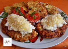 Fincsi receptek: Csirkés tócsni Tandoori Chicken, Salmon Burgers, Baked Potato, Chicken Recipes, Bacon, Food And Drink, Lunch, Meat, Ethnic Recipes