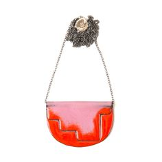 'Enfold' necklace  Red & Pink - 80cm oxidised chain vitreous enamel, copper & sterling Silver Oxidized Sterling Silver, Sterling Silver Chains, Vitreous Enamel, Red And Pink, Saddle Bags, Copper, Victoria, Shoulder Bag, Jewellery