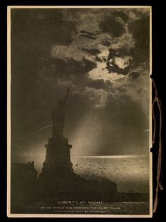 """Back cover of """"Liberty alight : dinner to the President of the United States, celebrating the illumination of the Statue of Liberty"""""""