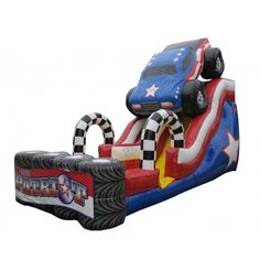 Stars and stripes forever! Have some red, white and blue patriotic fun with The Patriot Inflatable Slide.