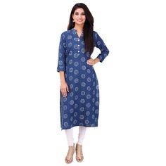 Buy PRAPUN Blue Khadi Kurti by Prapun, on Paytm, Price: Rs.1000
