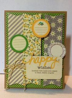 Happy Wishes Card by Kimber McGray via Jillibean Soup Blog