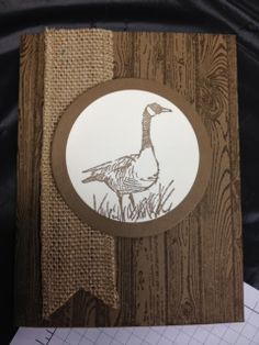 Wetlands with Hardwood Background Masculine Card Stampin' Up! Rubber Stamping Handmade Cards Stamp a Stack