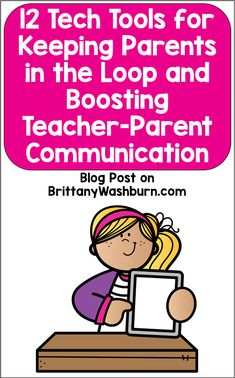 As teachers, part of our job is making sure that parents are kept in the loop about their child's progress and behavior.  Luckily, there are lots of tech tools out there to help you do this! If you want to keep things simple, class blogs as a way to keep your parents up to date have been around for quite a while.  Many platforms are designed to be very easy to use, like Blogger and Live Journal.  Edublogs was even made just for classroom and school library blogs.   Keep reading... Parent Teacher Communication, Parent Teacher Conferences, Free Teaching Resources, Teaching Tips, Parents As Teachers, New Teachers, Classroom Management Strategies, Technology Lessons, Student Portfolios
