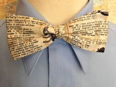 Spooky Typography Clip-on Bow Tie