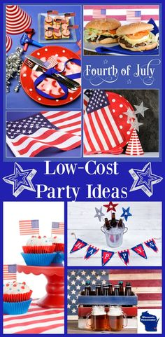 Celebrate Independence Day in style with these amazing low-cost Fourth of July party ideas that you can do-it-yourself on a minimal budget. via @wihomemaker