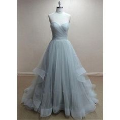 Formal Blue Sweetheart Long Tulle Ball Gown Prom Evening Dress Cwb0212