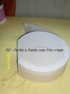 Step by step circle box Cardboard Paper, Diy Paper, Paper Crafts, Scrapbook Box, Diy Clutch, Steampunk Hat, Hat Boxes, Craft Box, Diy Box
