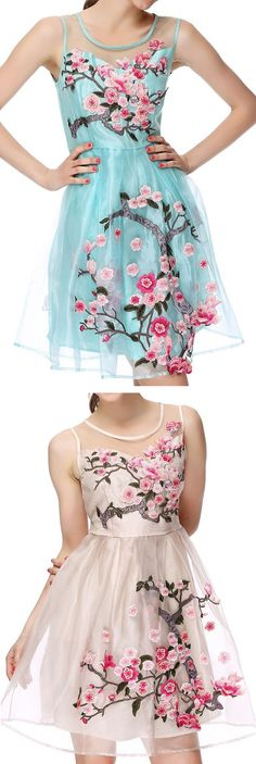 Cherry Blossom Floral Dress //
