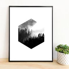 Hexagon Wald Printed auf eine professionelle Epson Ultra Premium Photo Luster Semi glossy-Papier. Farben sind lebendig und Reich und sehr schön im