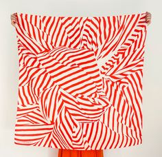 "Red Stripe Furoshiki. ""Furoshiki"" Japanese multi wrapping cloth and scarf."