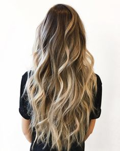 Golden Blonde Balayage for Straight Hair - Honey Blonde Hair Inspiration - The Trending Hairstyle Ombre Hair Color, Hair Color Balayage, Hair Highlights, Ombre Sombre, Bronde Hair, Natural Highlights, Blonde Hair Colour, Blonde Balayage Long Hair, Brunette With Blonde Highlights