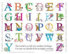 items similar to alphabet print poster art childrens abc teachers classroom pre school nursery on etsy