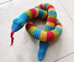 punto y seguimos: Tutorial serpiente crochet, revisado y mejorado.