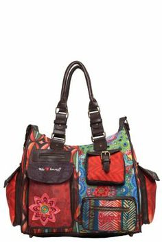 Desigual London Gallactic bag. This legendary Desigual style has countless pockets so you can carry around everything you need. Zip fastening. It measures: 41x32x20 cm. / 15.99