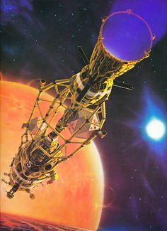 Peter Elson scifi art science fiction   retroscifiart.tumblr.com