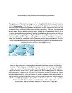 Medizinische und nicht medizinische verwendungen von kamagra