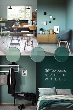 Did you noticed how much green is becoming popular in #homedecor ? In the post, inspirations from the light to the moody greens http://www.italianbark.com/green-wall-paint-interior-trend/Interior Design Community - Community - Google+ #shadesofgreenpaintcolours