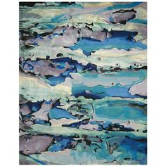 Nourison Prismatic Rug - Abstract Seaglass, 5'6 x 7'5 ($1,165) ❤ liked on Polyvore featuring home, rugs, nourison, abstract rug, abstract area rugs, nourison rugs and nourison area rugs