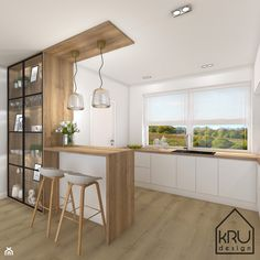 Kitchen Room Design, Kitchen Cabinet Design, Modern Kitchen Design, Living Room Kitchen, Home Decor Kitchen, Interior Design Kitchen, Home Kitchens, Kitchen Upstairs, Kitchen Modular