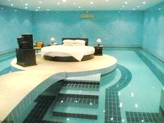 Ridiculous pool bedroom.