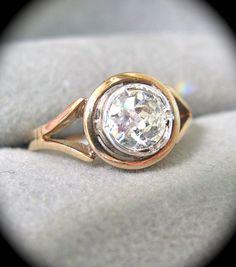 Old Mine Cut Rose Gold Engagement Ring   @Shelley Parker Herke Miller love it!!