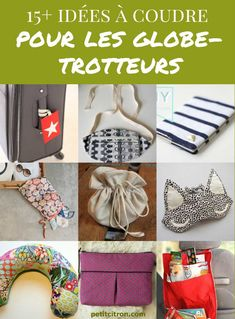 10 sewing gift ideas for travelers Here is a list of over 15 sewing accessories for when you travel. Sewing Hacks, Sewing Tutorials, Sewing Projects, Sewing Tips, Sewing Online, Kids Bean Bags, Diy Couture, Baby Leggings, Sewing Accessories