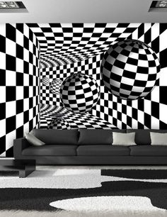 Concept Home Ideas 4 dummies Wall mural Black and white corridor - Selsey Showing A Bit of Disciplin Illusion Drawings, Illusion Art, 3d Wall Murals, Mural Art, Bathtub Walls, 3d Camera, Abstract City, 3d Fantasy, Concept Home