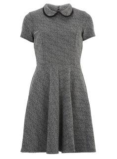 Black and white collar dress