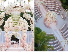 Romantic Rose Gold Wedding | Flowery, fabulous and overflowing with rose-gold touches, this dreamy Beverly Hills affair is the ultimate romantic wedding | Mark's Garden | Wildflower Linen | International Event Company | Revelry Event Designers | Ceci New York