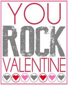 You ROCK Valentine! Free printable on { lilluna.com }