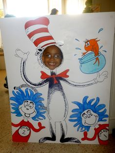 Dr. Seuss activities: Make one on poster board and use as a photo shoot prop for Cat in the Hat Day.