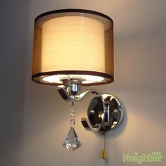 Modern Crystal LED Wall Lamp Cloth Wall sconce light Bedroom bedside lighting #MIDU #Modern