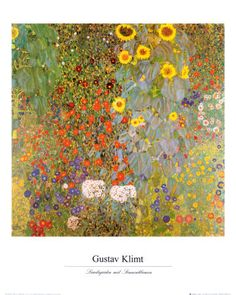 """Country Garden with Sunflowers"" by Gustav Klimt"