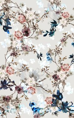 pretty patterns Chinoiserie-Chic contest on Behance Vintage Flowers Wallpaper, Flower Background Wallpaper, Flower Phone Wallpaper, Wallpaper Backgrounds, Vintage Flower Backgrounds, Vintage Floral Wallpapers, Office Wallpaper, Chinoiserie Wallpaper, Computer Backgrounds