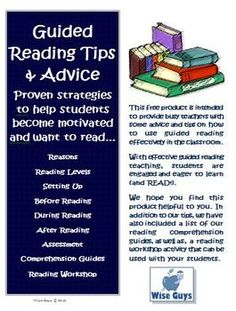 FREE! Common Core Guided Reading Tips, Hints, Strategies, and more!