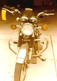 I started with a wrecked 550 cc Honda Motorcycle. The engine was perfect so I could throw away the twisted frame.