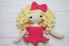 Amigurumi Doll Pattern Crochet Doll Dolly by TheFriendlyRedFox