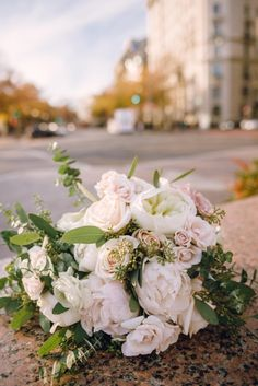 Elegant Washington DC Wedding at The Willard - floral design: Loda Floral Design; bridal bouquet