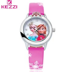Disney Watch Frozen Elsa Princess Theme Quartz Water Resistant Girl Students Children Bangle Watches Strong Resistance To Heat And Hard Wearing Watches