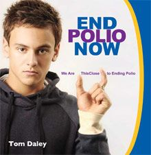 Olympic athletes help Rotary spread the polio message
