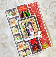 A Passion For Cards: Christmas Village decoupage card - Trimcraft Christmas And New Year, Christmas Cards, Merry Christmas, Xmas, Christmas Things, December 11, On October 3rd, Christmas Village Collections, Cardmaking And Papercraft