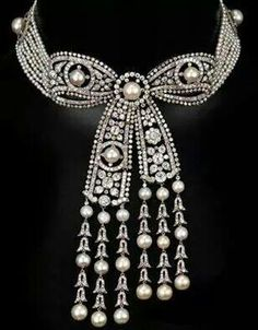Pearl and diamond chocker made for the Romanovs.