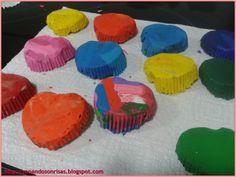 Llevo todo el curso recolectando plastidecor pequeñitas, de las que se rompen o de las que ya no se puede pintar con ellas de lo pequeñas qu...