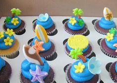 cupcake boda surfera en la playa decoración surf cupcake decoration beach wedding marriage aloha hawaii miraquechulo