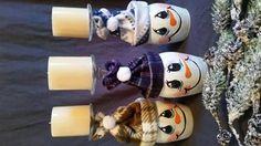 Kerzenhalter Schneemann Weinglas von OneSweetCakery auf Etsy